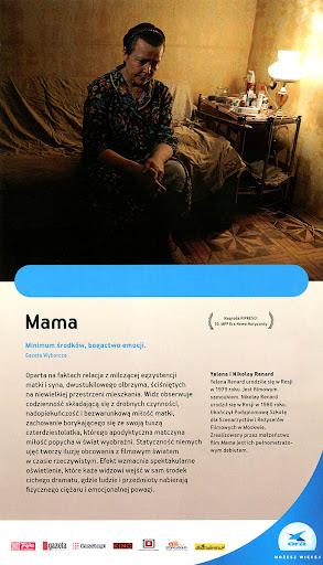 Tył ulotki filmu 'Mama'