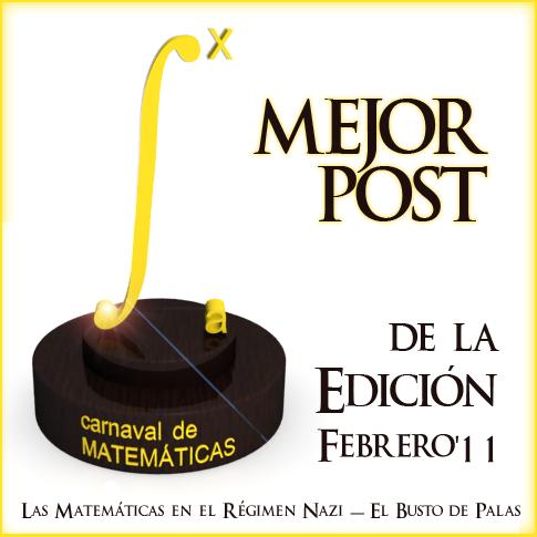 Orgulloso ganador del Premio Carnaval de Matemáticas Edición 2.1
