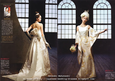 modern Japanese wedding gowns