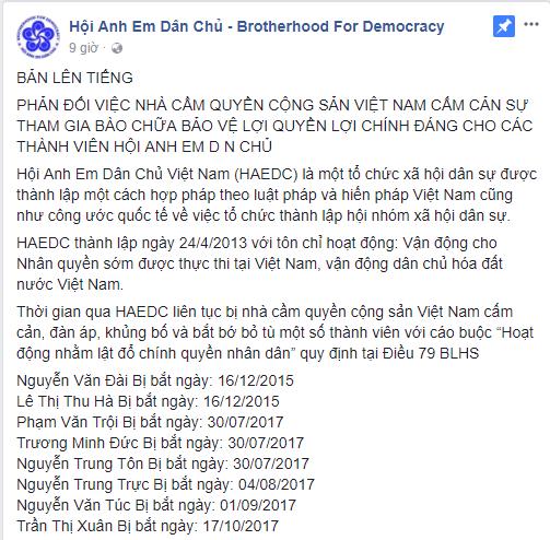 HỘI ANH EM DÂN CHỦ