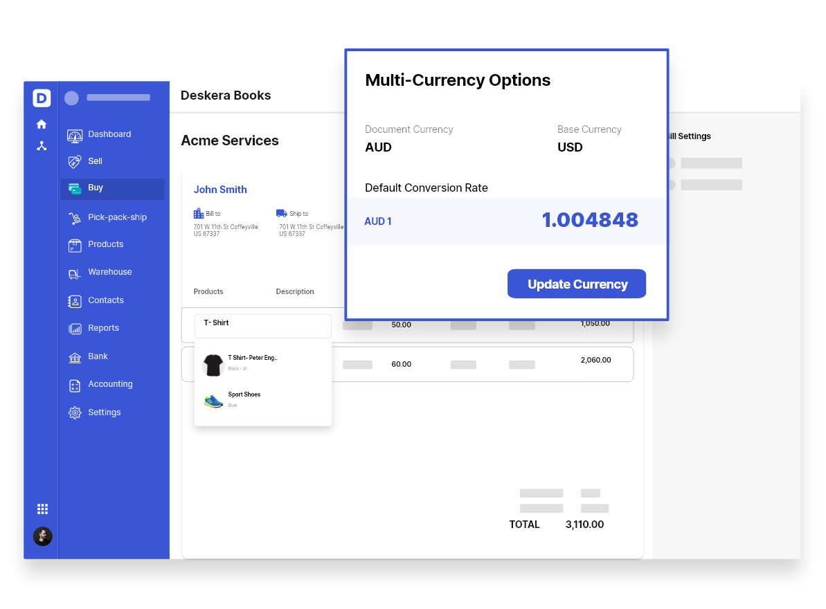 Multi-currency Support in Deskera