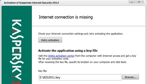 Kích hoạt Kaspersky Internet Security 2012 - Kaspersky Anti-virus 2012 bằng key file