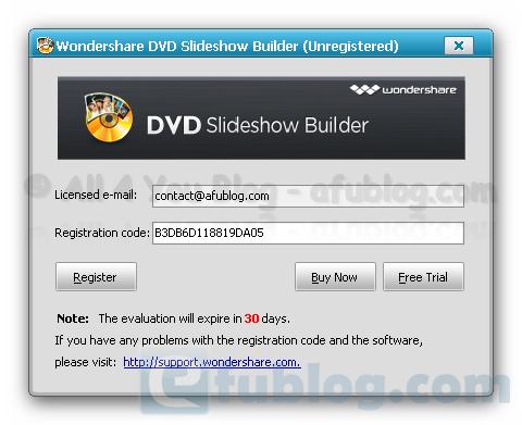 wondershare dvd slideshow builder deluxe registration code