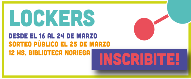 Inscribite al sorteo de Lockers