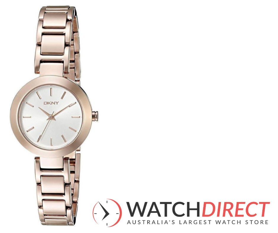 A very merry Christmas indeed with theDKNY Stanhope Silver Dial Rose Gold Tone Women's Watch from Watch Direct.