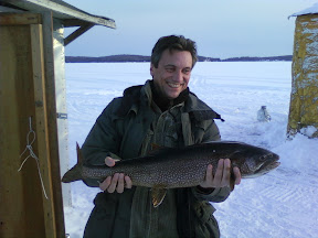 Ice Fishing on Halls Lake