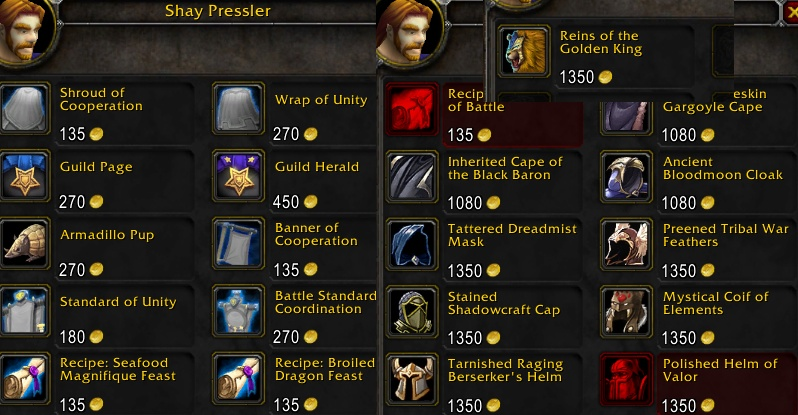 wow guild rep farming