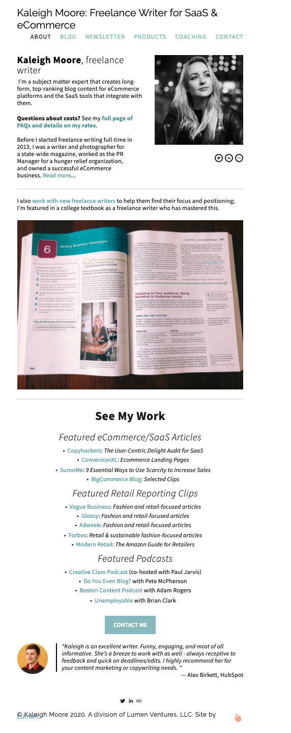 Write an about me freelance-page and get clients (incl. template)