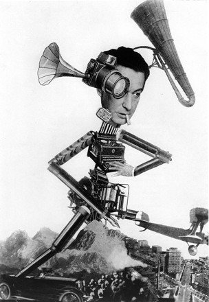 The photojournalist Egon Erwin Kisch as depicted by photomontagist Otto Umbehr aka Umbo (1926)