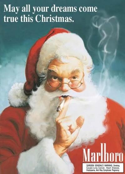 Papai noel fumando Marlboro