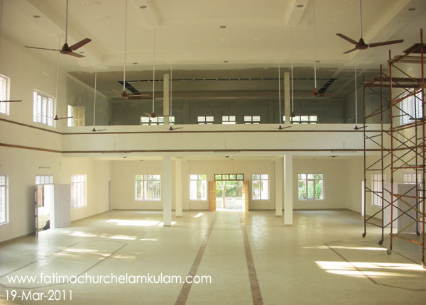 Inner view of Fatima Matha Hall