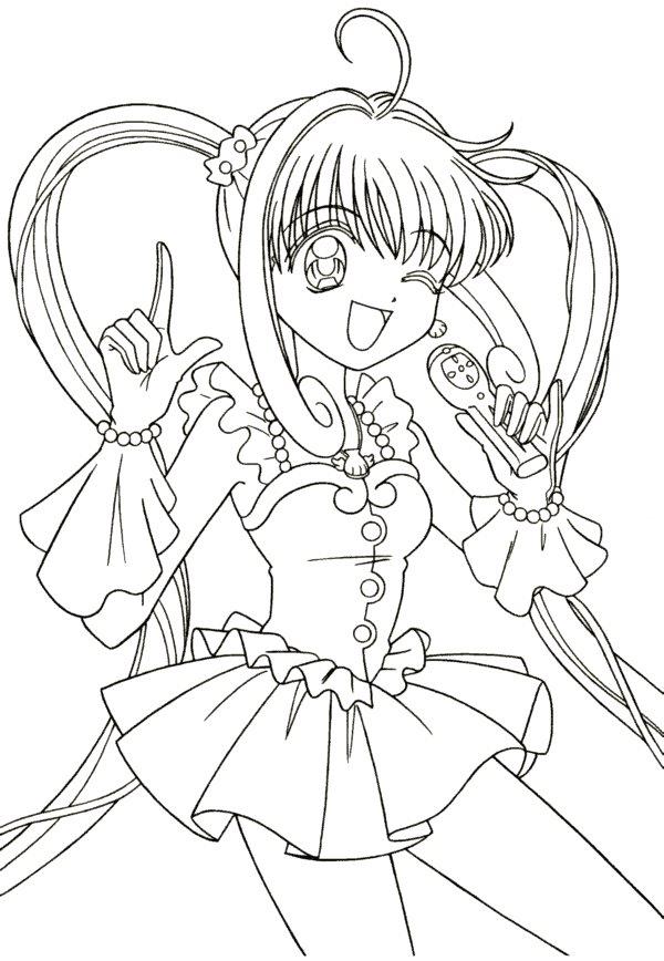 Dessin a colorier de manga - Comment colorier un manga ...