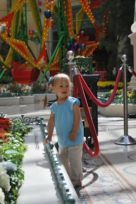 This is a photo of my daughter Arabella inside the Conservatory of the Bellagio Hotel and Casino, Las Vegas, NV.