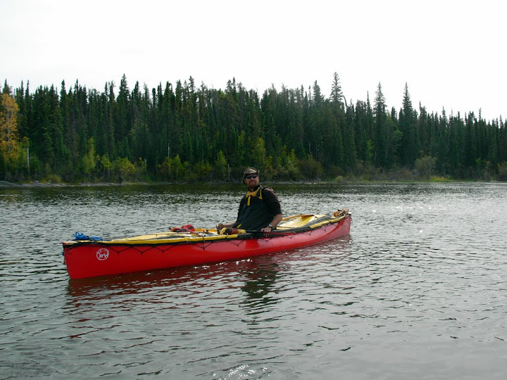 Bryan Paddling Solo On The Churchill River
