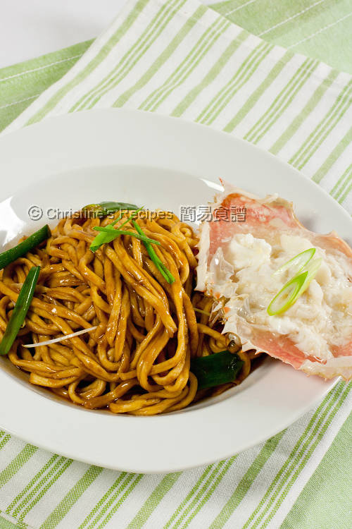 Crab Meat E-Fu Noodles in Oyster Sauce01