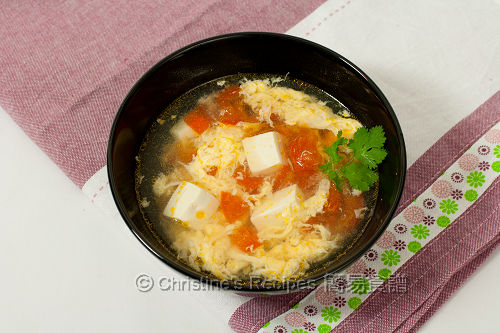 Tomato Tofu Egg Drop Soup (番茄豆腐蛋花湯) | Christine's ...