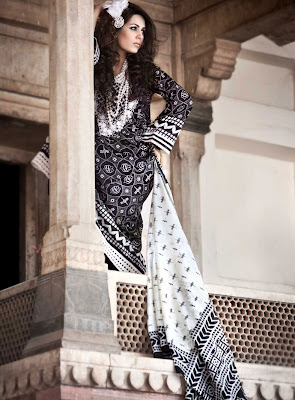 Gul Ahmed Summer 2011 - Blanche Noire
