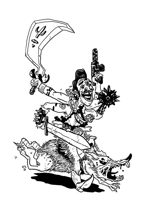 Salvador Kali riding his plague rat
