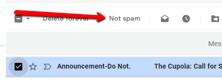Gmail Mark As Not Spam