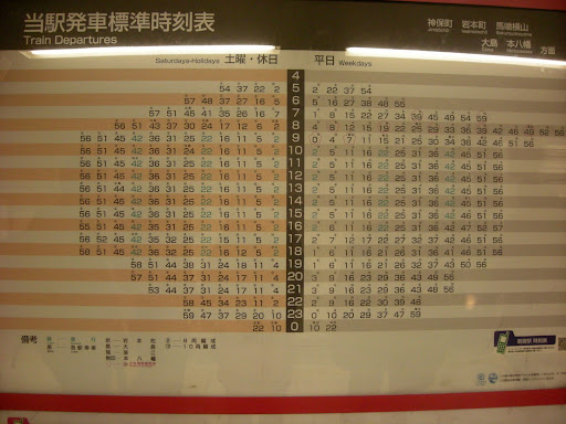how to check japan train timetable
