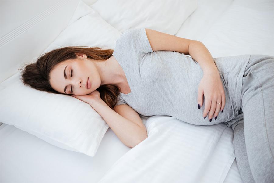 pregnant lady sleeping