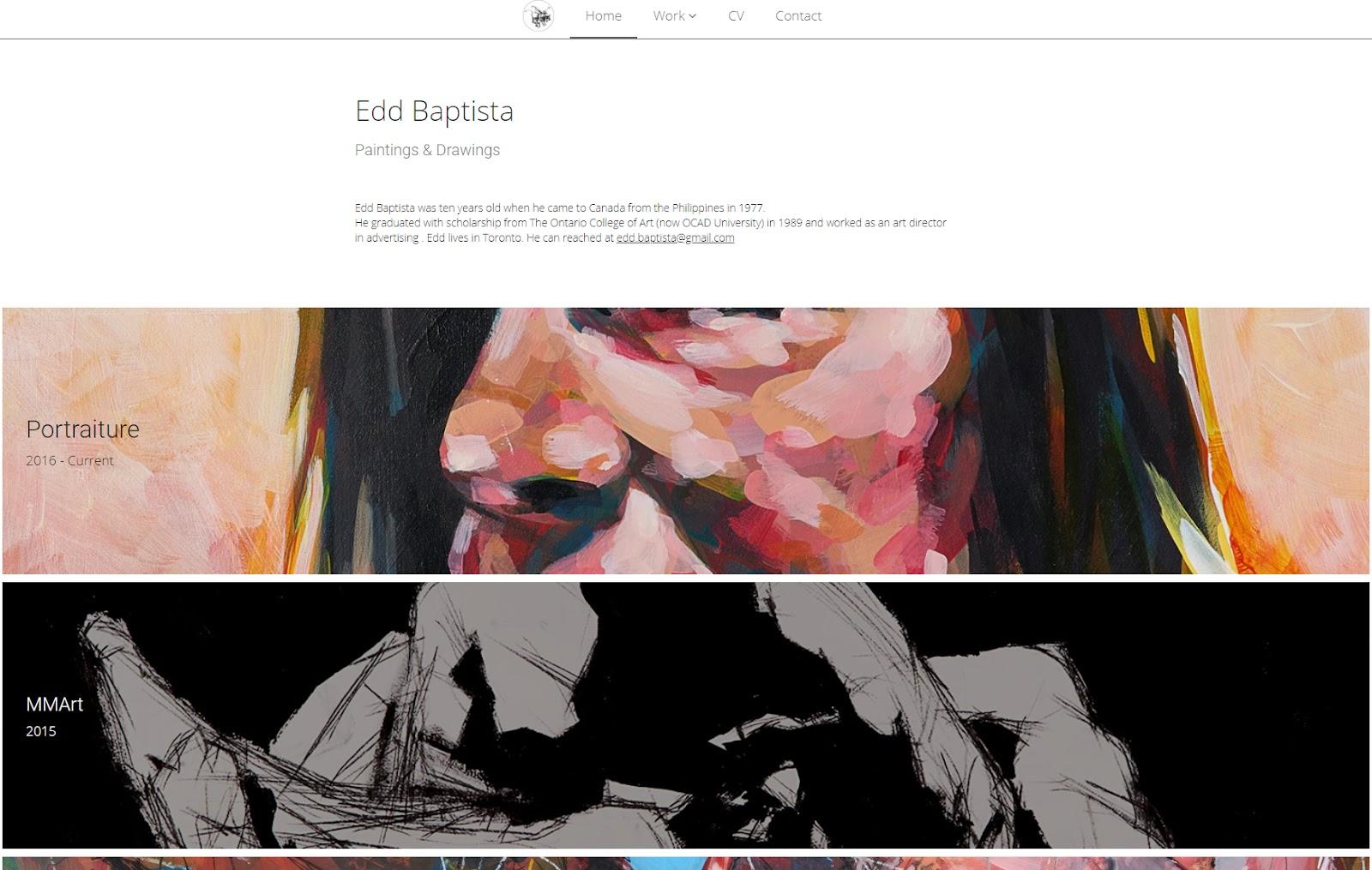 Edd Baptista homepage