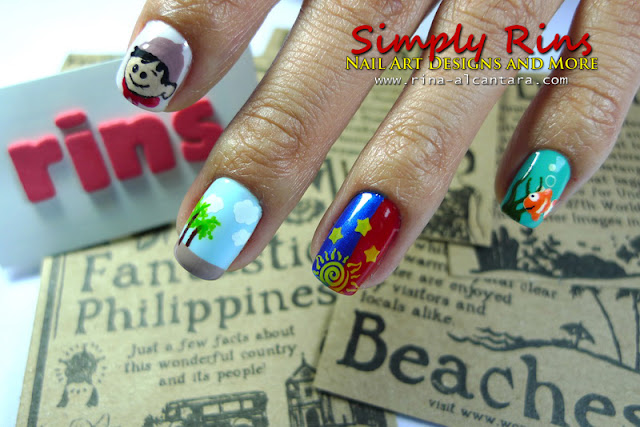Philippines nail art design
