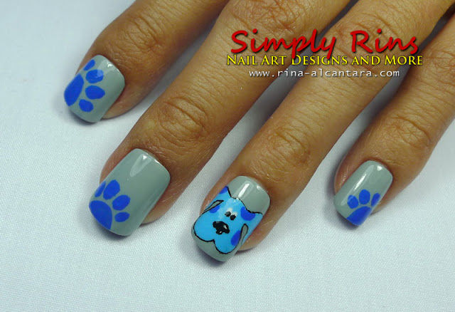 Blues Clues nail art design