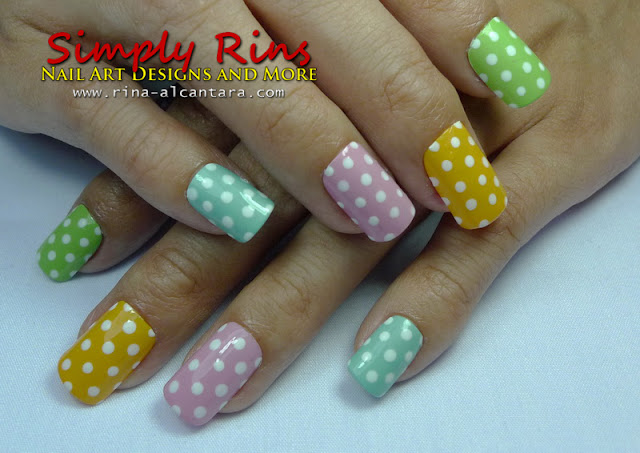 Polka Dots Nail Art for beginners