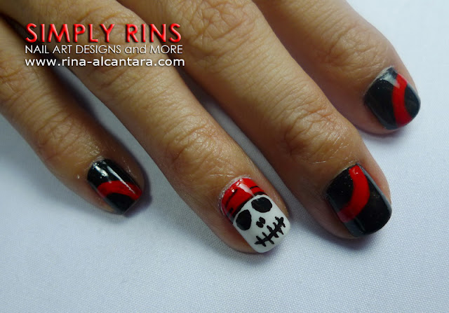 Pirates of the Caribbean nail art design 08
