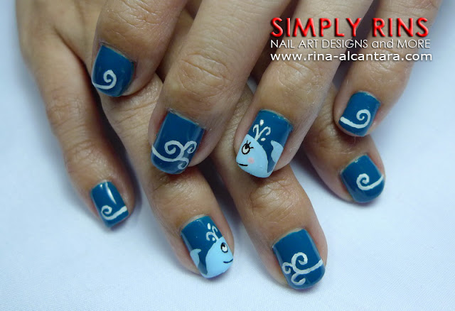 Nail Art: A Tale of Two Whales | Simply Rins