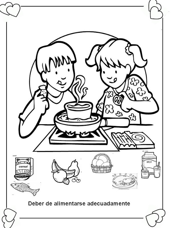 Coloring pages about healthy habits coloring pages for 7 habits coloring pages