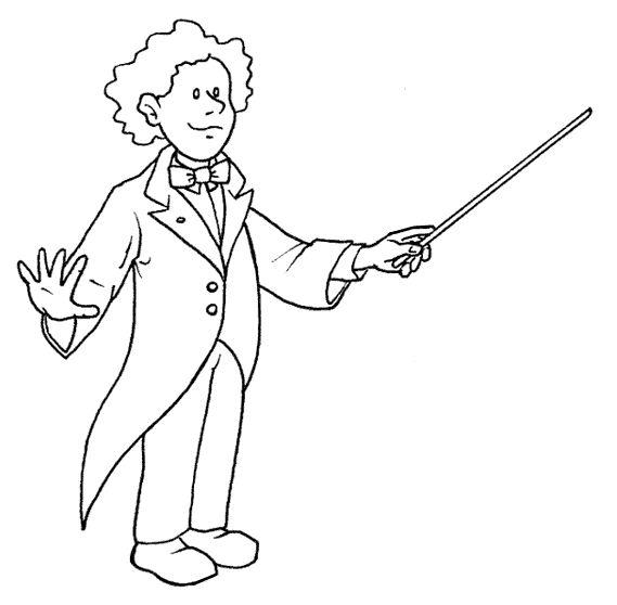 Pinto Dibujos: Director de orquesta para colorear