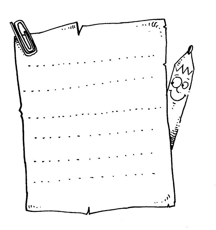 Pinto Dibujos: Hoja para hacer una carta para colorear