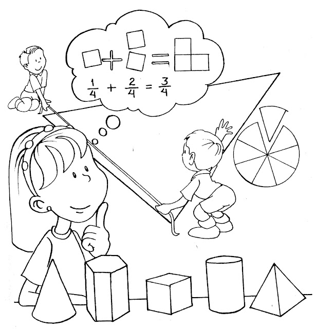 Carátulas para colorear de matemáticas - Imagui