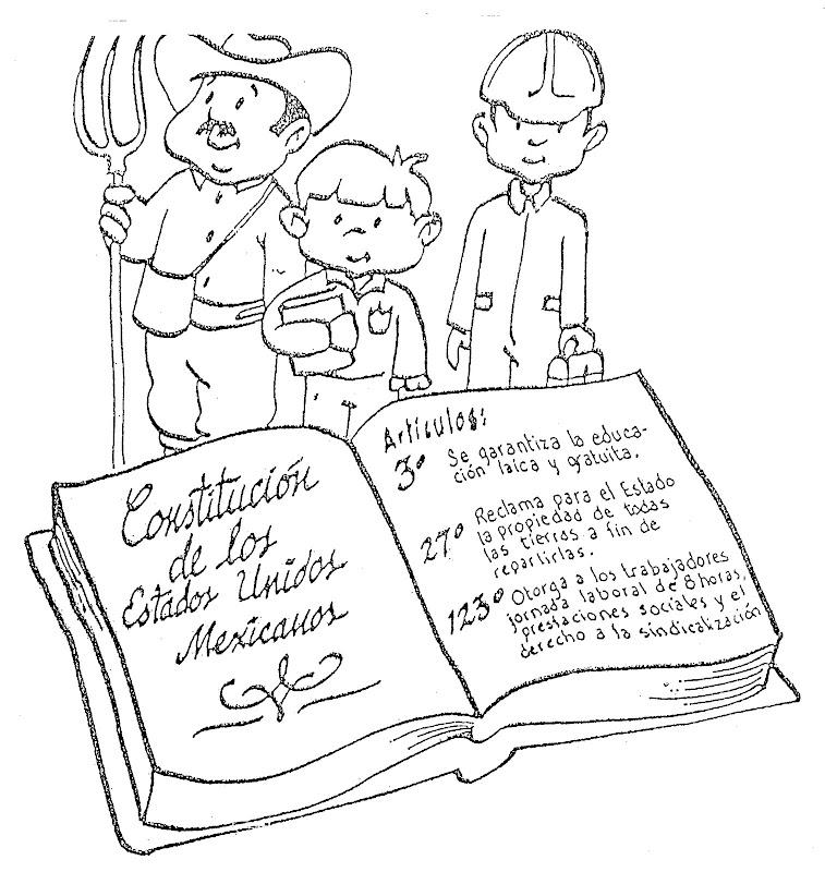 Constitución para colorear