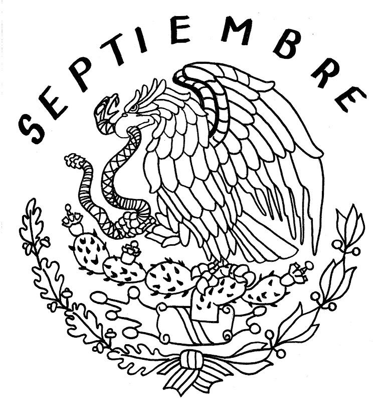 Escudo De Mexico Para Colorear