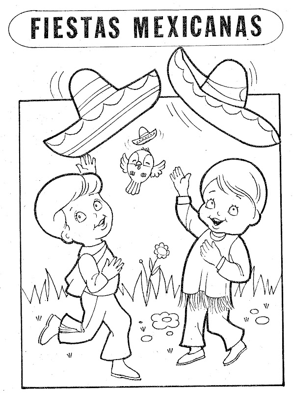 Mexican People Coloring Page