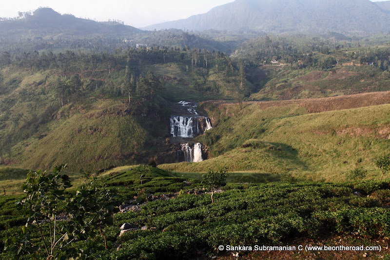 St. Clair's Falls surrounded by tea estates