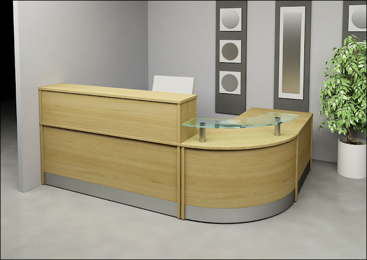 modular desk medical office reception furniture