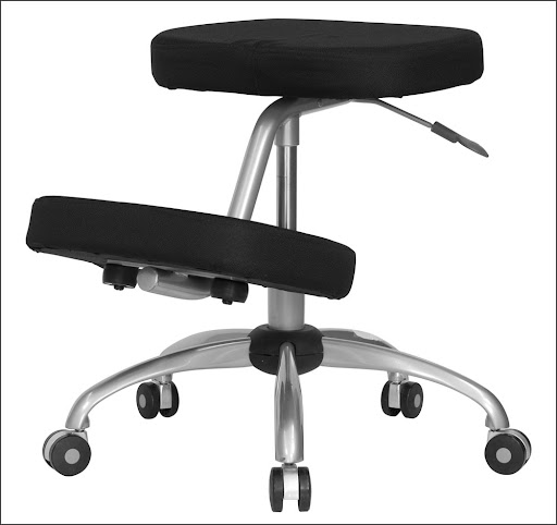 ergonomic kneeling  office chair with metal frame