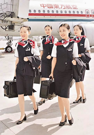 china eastern airlines cabin crew going off-duty - world stewardess