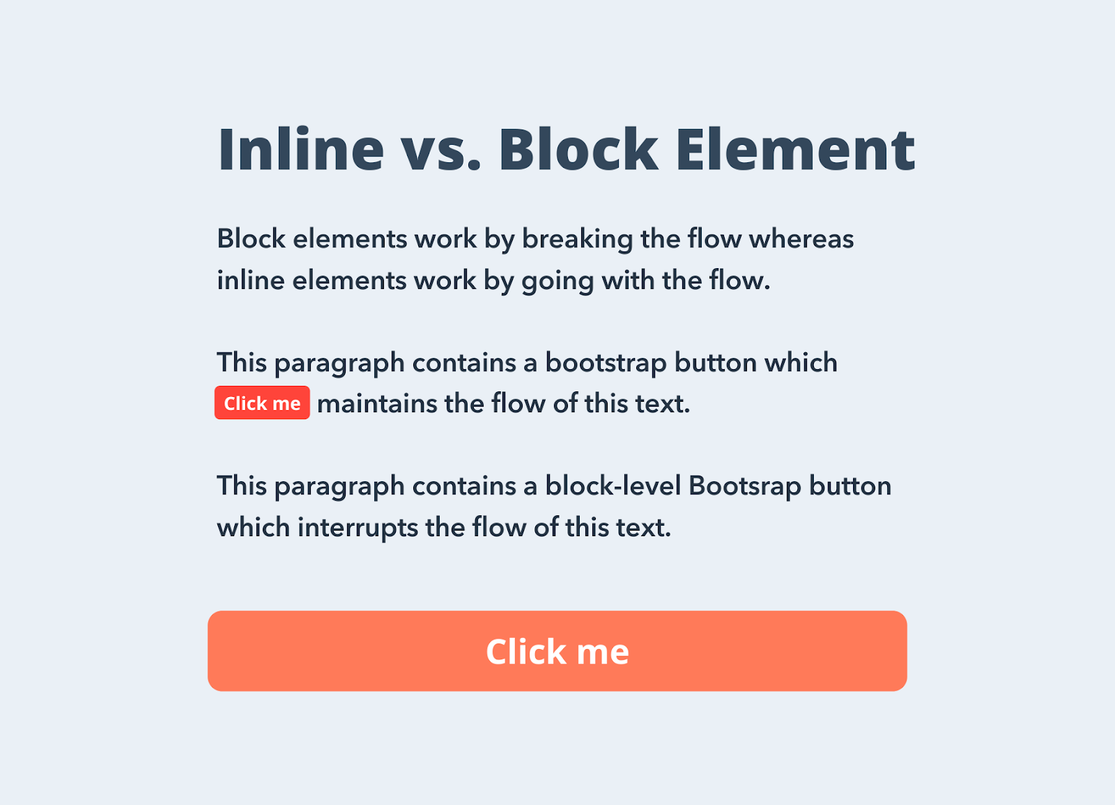 Inline vs. Block elements with bootstrap buttons