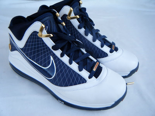 Nike Air Max LeBron VII (7) WhiteNavyGold Upcoming