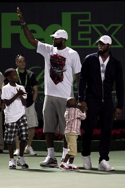 King8217s Feet LeBron James and Dwyane Wade Meet Rafael Nadal