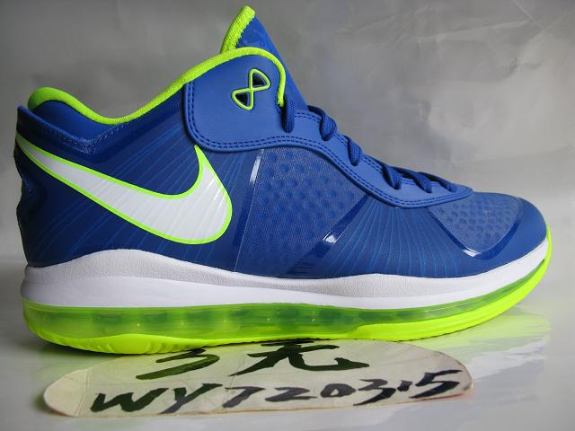 63e5bf076fae5 Nike LeBron 8 V2 Low Treasure BlueVolt 8220strikeSpritestrike8221 New Pics  ...