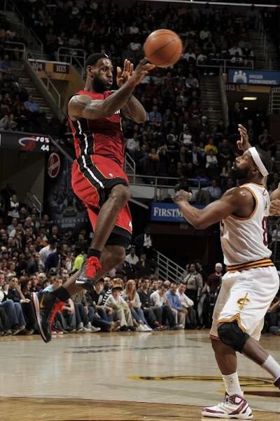 LeBron Steps up His Shoe Game in Miami Loss to Cleveland