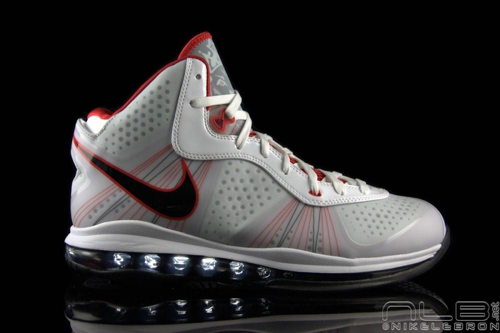 8f9a0146be92 The Showcase  Nike LeBron 8 V 2 White Black-Sport Red