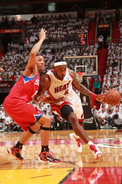 Heat Lean on Big Three Take Game One James Debuts LBJ8 PS