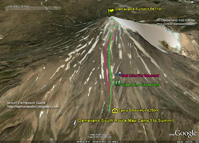 Damavand Mountain Map
